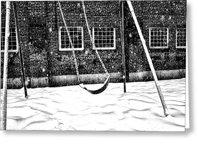Ghost On A Swing Greeting Card by Bill Cannon