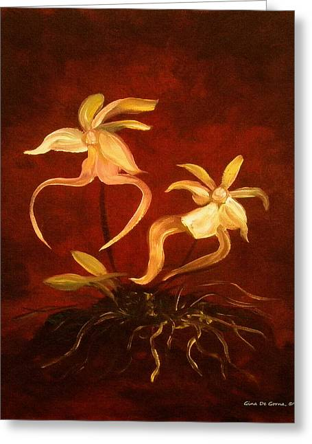 Ghost Orchids Greeting Card