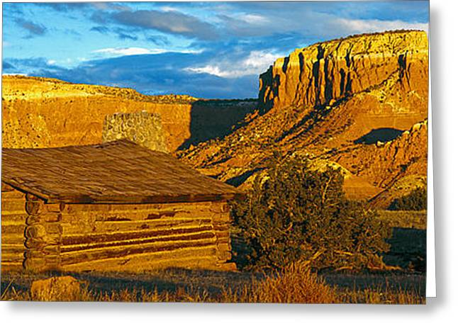 Ghost Ranch At Sunset, Abiquiu, New Greeting Card by Panoramic Images
