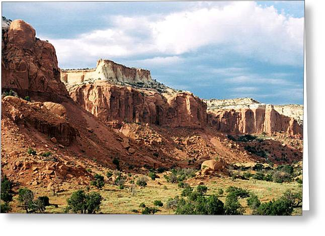 Ghost Ranch Hills Greeting Card by Diana Davenport