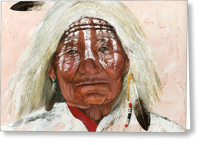 Native american greeting cards fine art america ghost shaman greeting card m4hsunfo