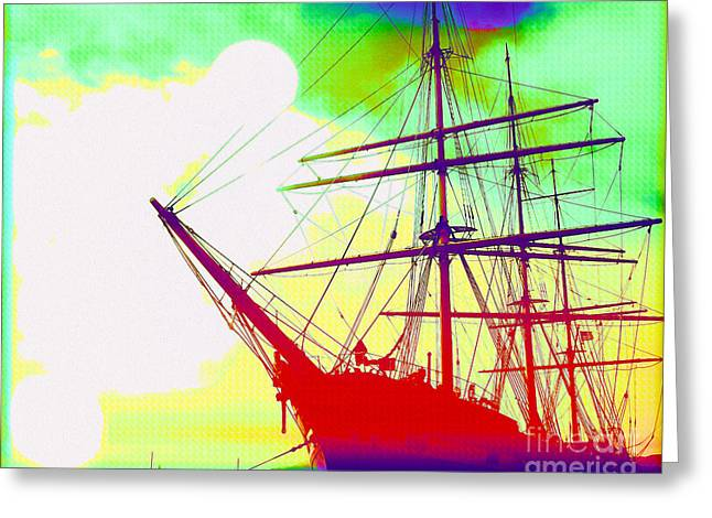 Ghost Ship Greeting Card by Chris Andruskiewicz
