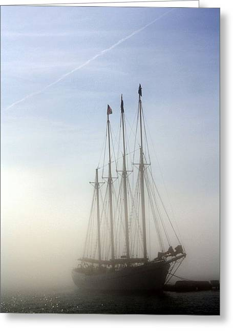 Greeting Card featuring the photograph Ghost Ship by Greg DeBeck