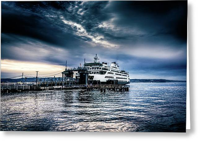 Ghost Ship Greeting Card by Spencer McDonald