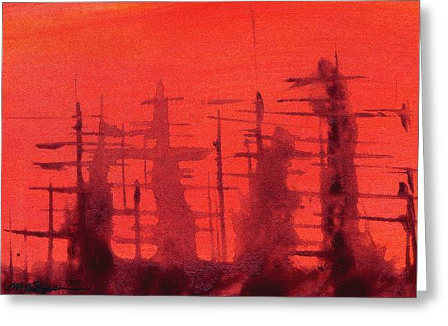 Ghost Ships Greeting Card