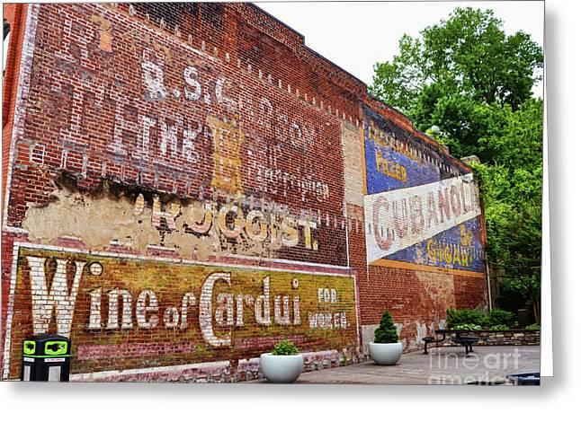 Ghost Signs In Radford Virginia Greeting Card