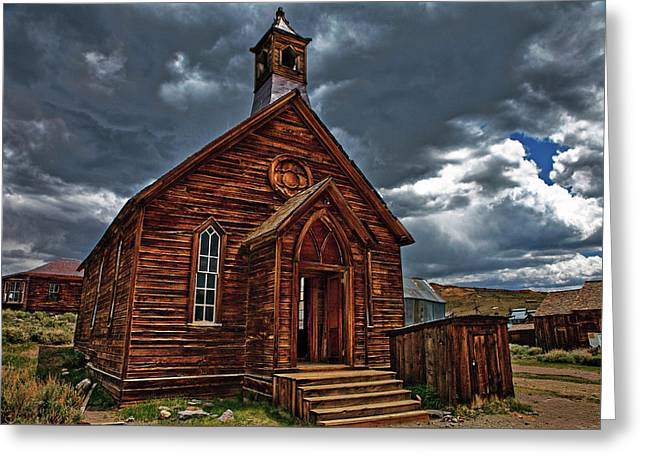 Ghost Town Church Greeting Card by Nathaniel Grant