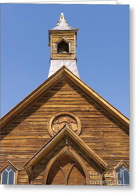 Ghost Town Of Bodie California Methodist Church Dsc4350 Greeting Card by Wingsdomain Art and Photography