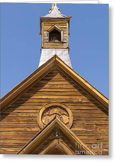 Ghost Town Of Bodie California Methodist Church Dsc4353 Greeting Card by Wingsdomain Art and Photography