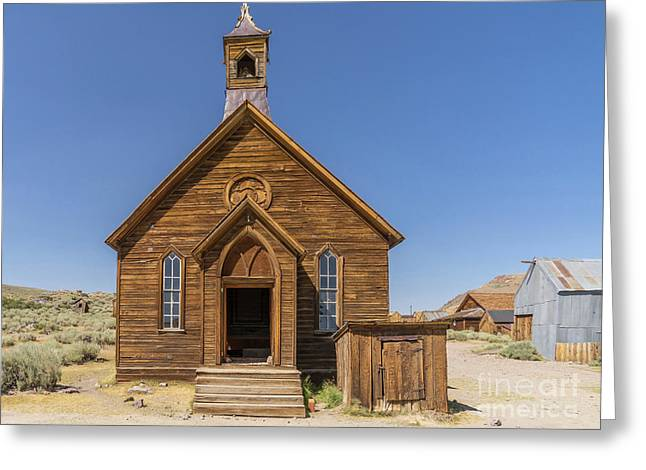 Ghost Town Of Bodie California Methodist Church Dsc4473 Greeting Card by Wingsdomain Art and Photography
