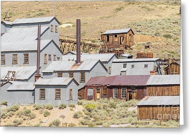 Ghost Town Of Bodie California Standard Stamp Mill Dsc4416 Greeting Card by Wingsdomain Art and Photography