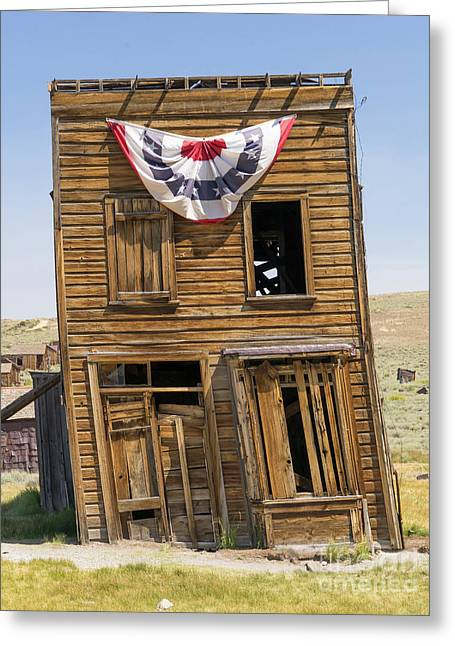 Ghost Town Of Bodie California Swasey Hotel Dsc4371 Greeting Card by Wingsdomain Art and Photography