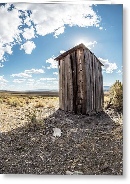 Ghost Town Outhouse Greeting Card