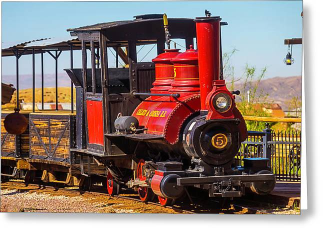 Ghost Town Train Greeting Card by Garry Gay