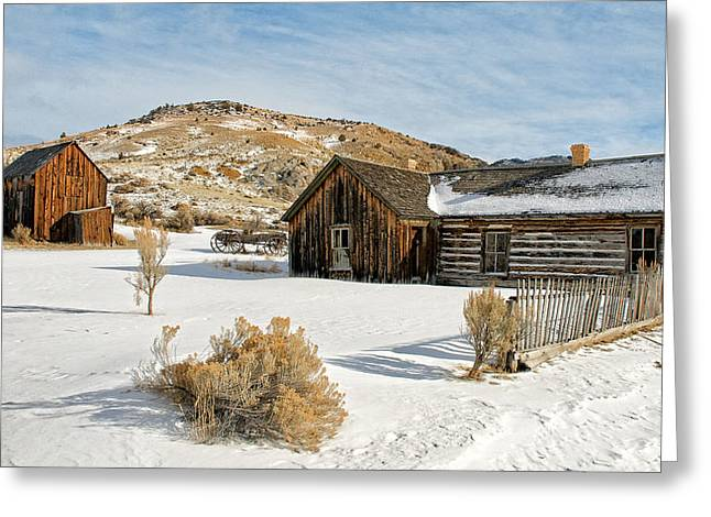 Ghost Town Winter Greeting Card