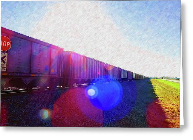 Ghost Train To Glory Greeting Card by Desiree Paquette