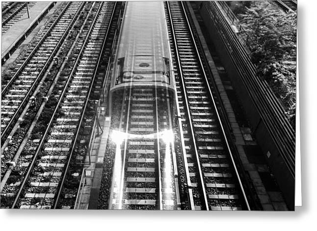 Greeting Card featuring the photograph Ghost Train Vienna by Chris Feichtner