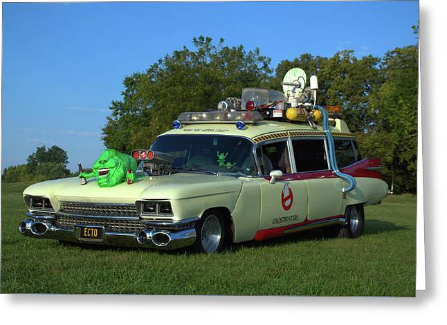 1959 Cadillac Ghostbusters Ambulance Replica Greeting Card by Tim McCullough