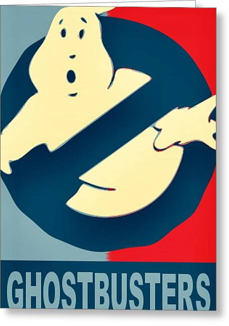 Ghostbusters Greeting Card by Paul Van Scott
