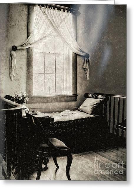 Ghostly Destrehan Plantation Greeting Card by Kathleen K Parker