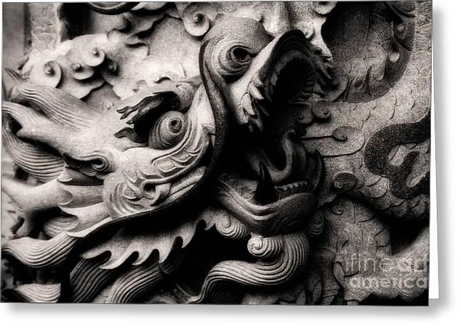 Ghostly Dragon Greeting Card by Venetta Archer