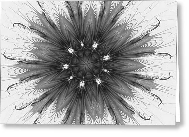 Ghostly Glow Fractal Greeting Card