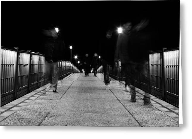 Ghostly Presence Greeting Card by Andrea Mazzocchetti