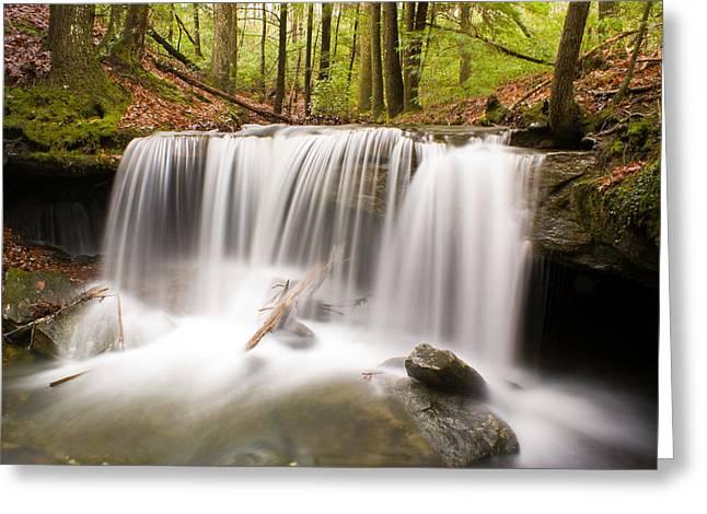 Ghostly Waterfall Greeting Card by Douglas Barnett