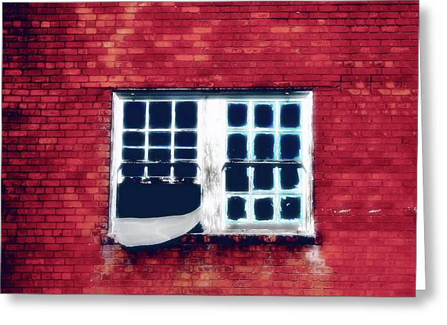 Ghostly Window Greeting Card
