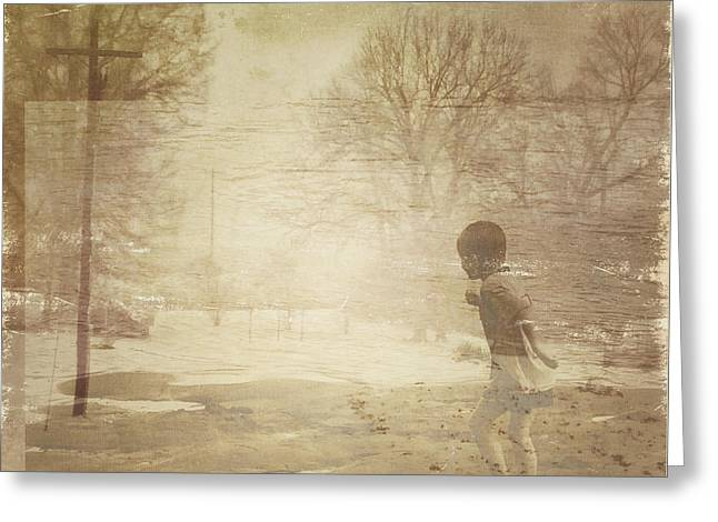 Ghosts And Shadows Vi - Mistaken Greeting Card