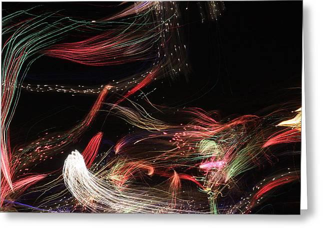 Ghosts Of Fireworks Past Greeting Card by Jonathan Kotinek