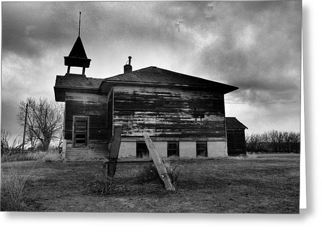 Ghosts Of Laughter In Corinth North Dakota Greeting Card by Jeff Swan
