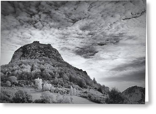 Ghosts Of Montsegur Greeting Card by Jean Gill