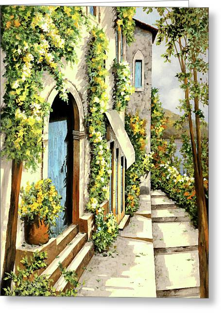 Giallo Limone Greeting Card by Guido Borelli
