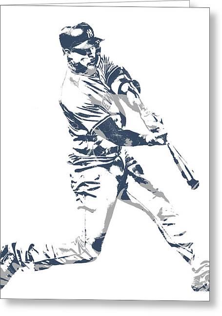 Giancarlo Stanton New York Yankees Pixel Art 3 Greeting Card