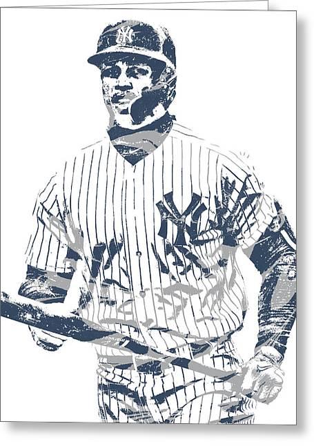 Giancarlo Stanton New York Yankees Pixel Art 4 Greeting Card