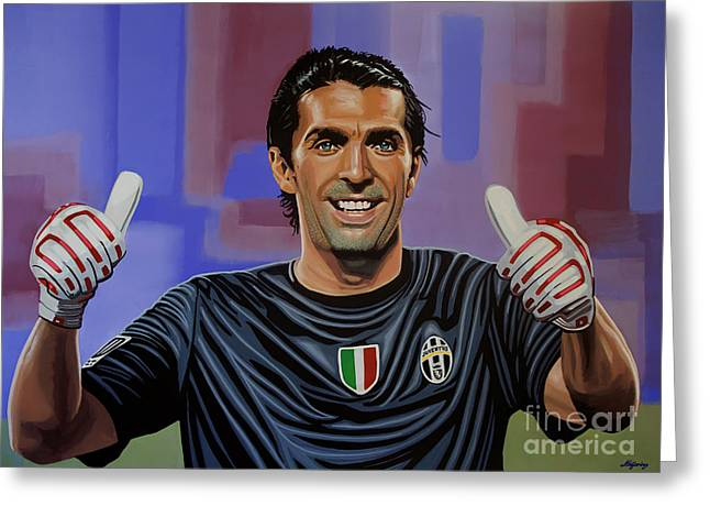 Gianluigi Buffon Painting Greeting Card by Paul Meijering
