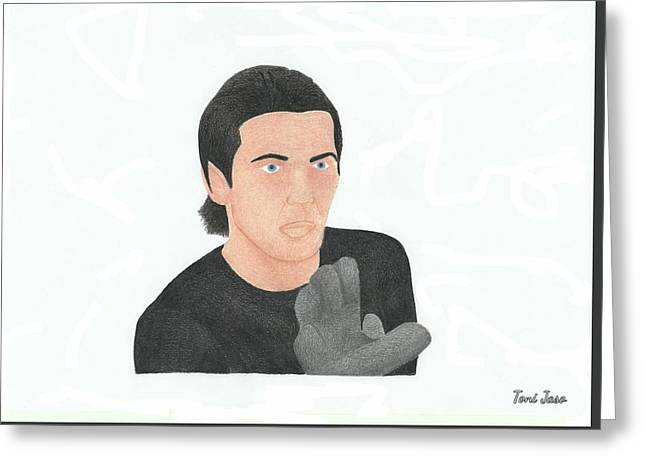 Gianluigi Buffon Greeting Card by Toni Jaso