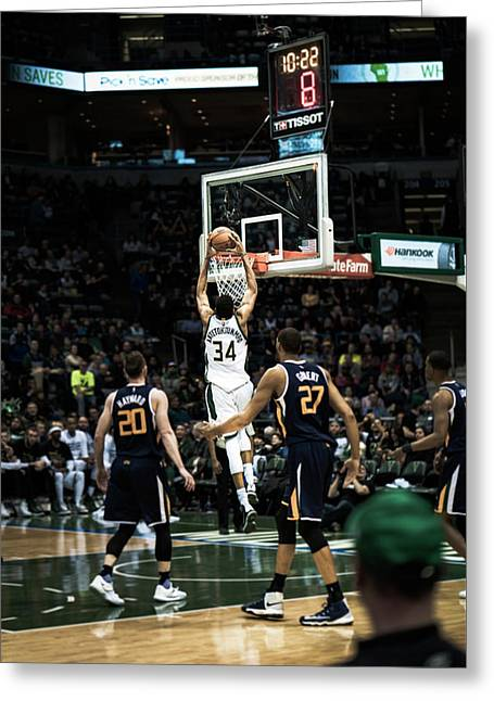 Giannis Slam Greeting Card