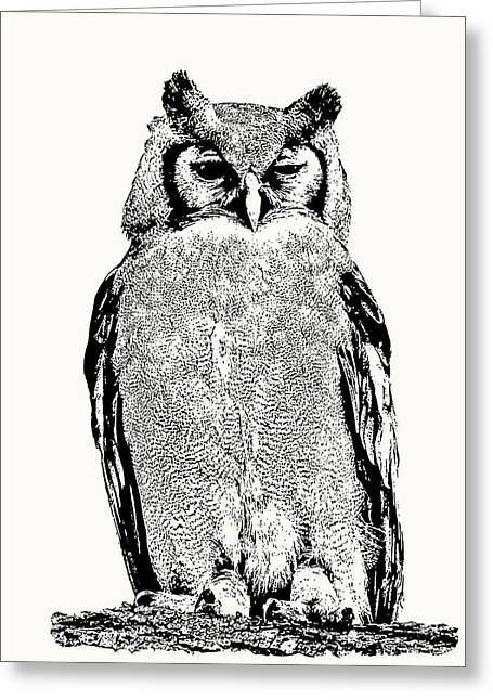 Giant Eagle-owl Perching Greeting Card