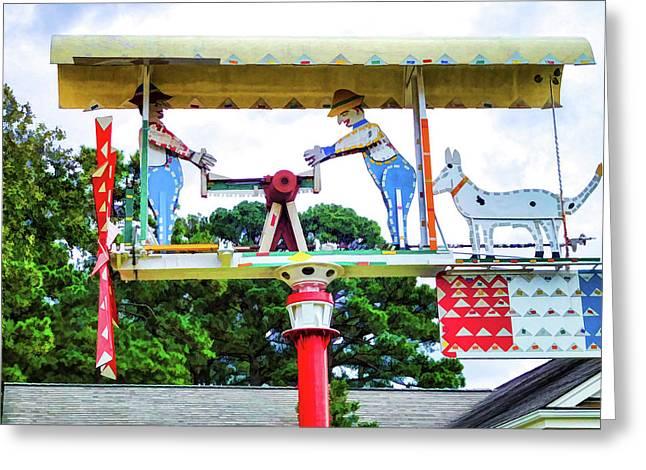 Giant Folk-art Weathervane 3 Greeting Card