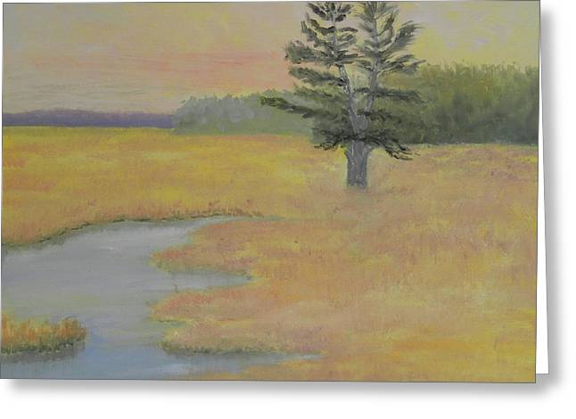 Giant In The Marsh Greeting Card