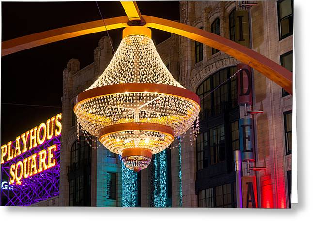 Giant Outdoor Chandelier Greeting Card