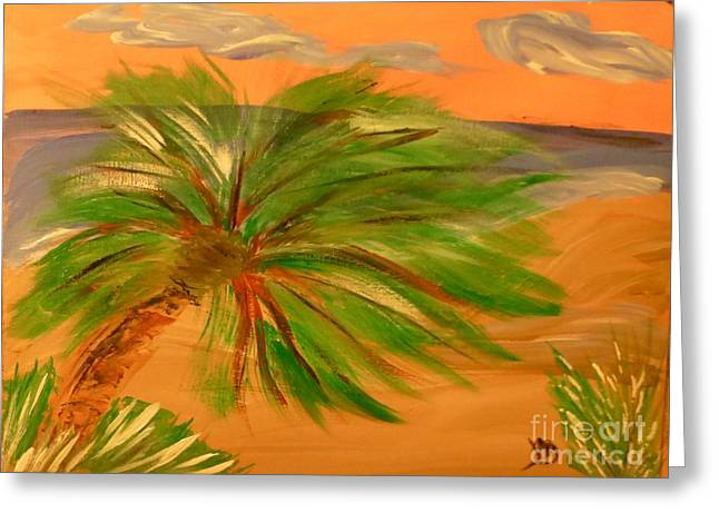 Giant Palm Tree Greeting Card by Marie Bulger