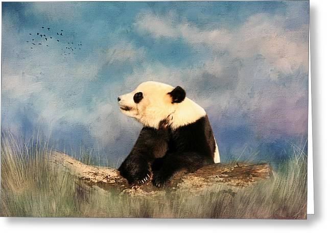 Giant Panda Greeting Card by Kim Hojnacki