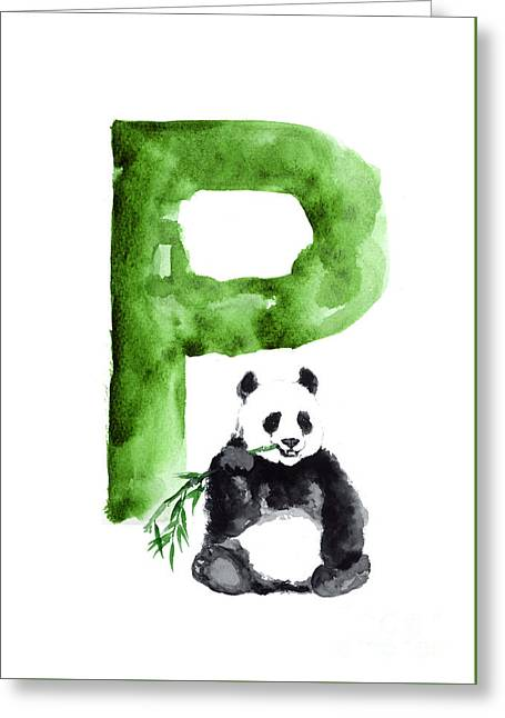 Giant Panda Large Poster Greeting Card