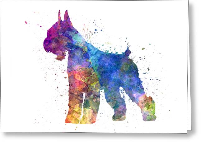 Giant Schnauzer 01in Watercolor Greeting Card by Pablo Romero