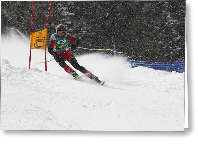 Giant Slalom Racing Greeting Card
