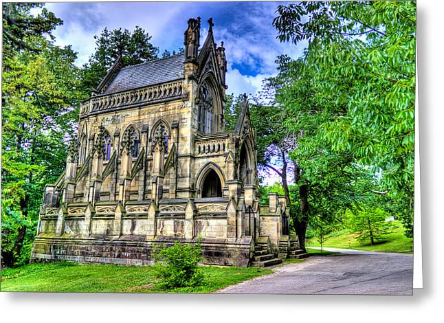 Giant Spring Grove Mausoleum Greeting Card by Jonny D