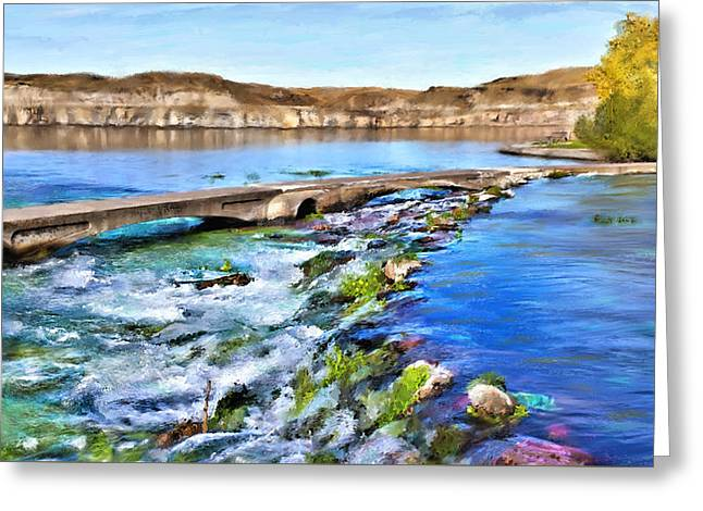 Giant Springs 3 Greeting Card by Susan Kinney